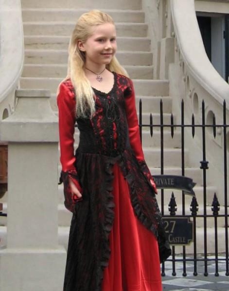 Vampir Kleid Kinderkostuem