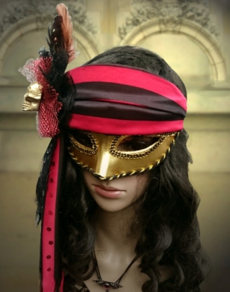 Maske mit Skull venezianisch