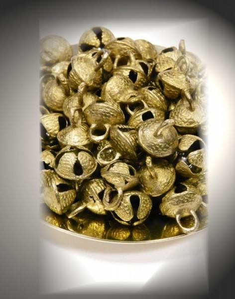 10 Glöckchen bronzefarben klein