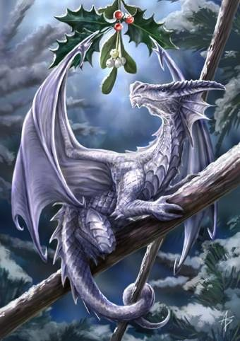 Fantasy Winterkarten Snow Dragon