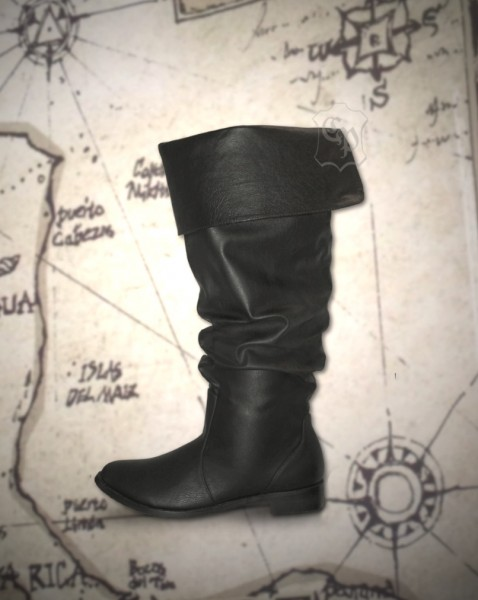Piratenstiefel Hook schwarz