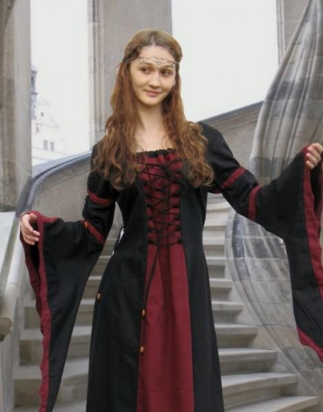 Elben Kleid 2-farbig Baumwolle