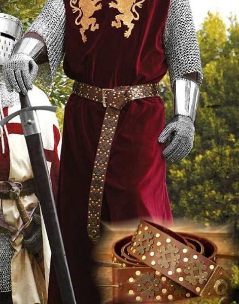 Langgürtel de Luxe Leder Mittelalter
