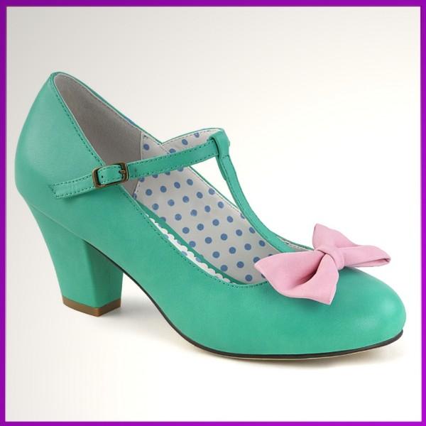 Pin-up Schuhe niedriger Absatz