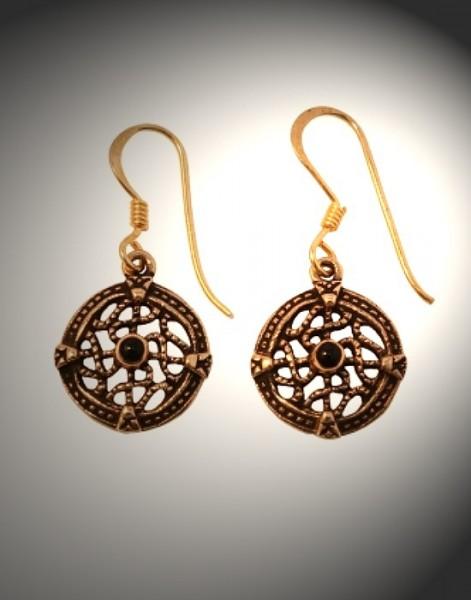 Ohrringe bronze keltisch rund
