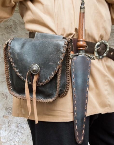Nappa Gürtel Tasche Antik
