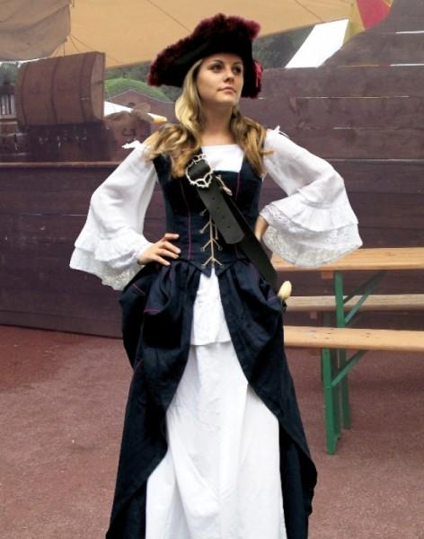 2-teilige Gewandung Piratin XXL