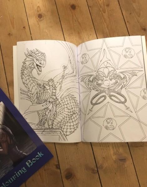 malbuch elfen und drachen  schreibzeug  notizbücher