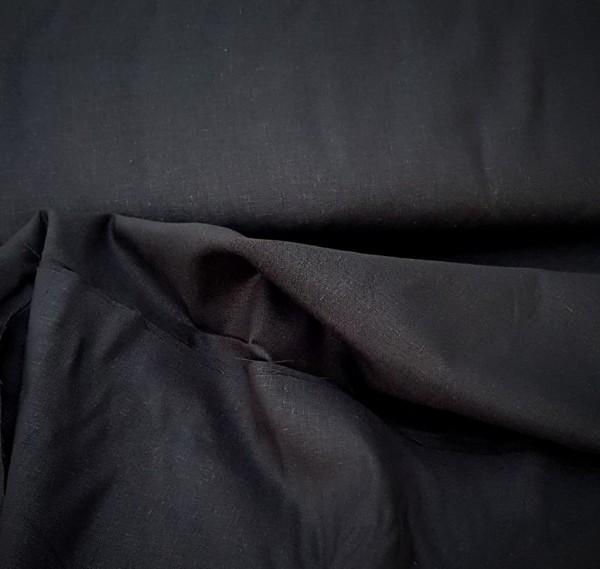 Stoff Leinen-Viskose schwarz