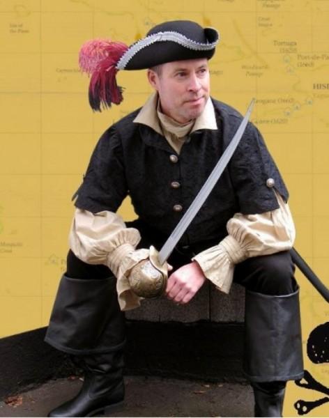 Piratenweste Freibeuter Jaquard
