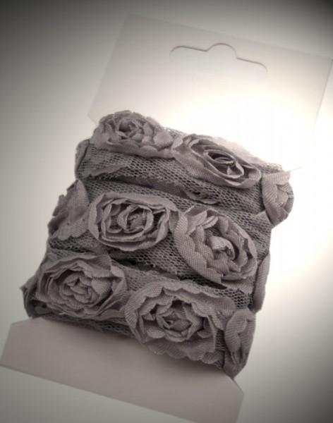 Rosen Tüllborte klein 2cm