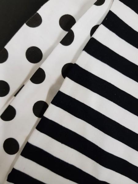 Loopschal schwarz-weiß