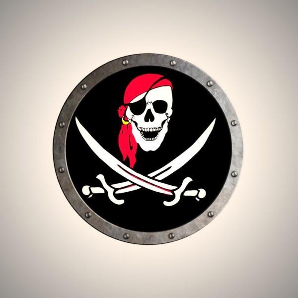 Piraten Schild Totenkopf