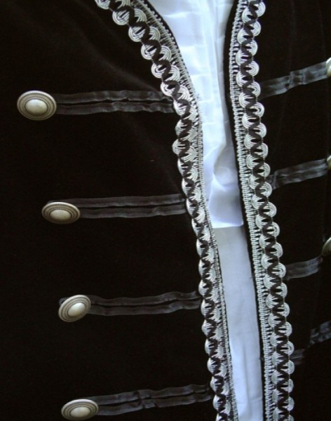 Silberne Borte 25mm Kunstseide