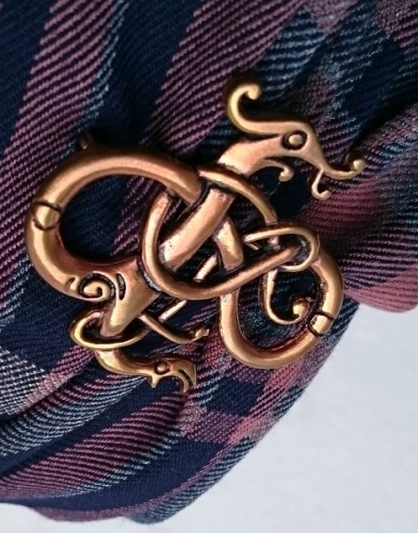 Drachen Brosche keltisch bronze