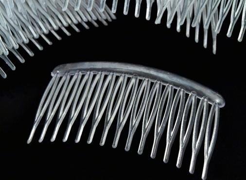 5 x Haarkamm Einsteck-Kamm 80x45 mm