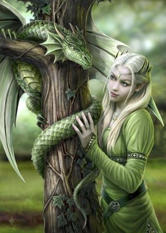 Fantasy Karte Kindred Spirits