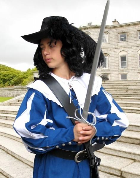 Musketier d'Artagnan weiß-blau
