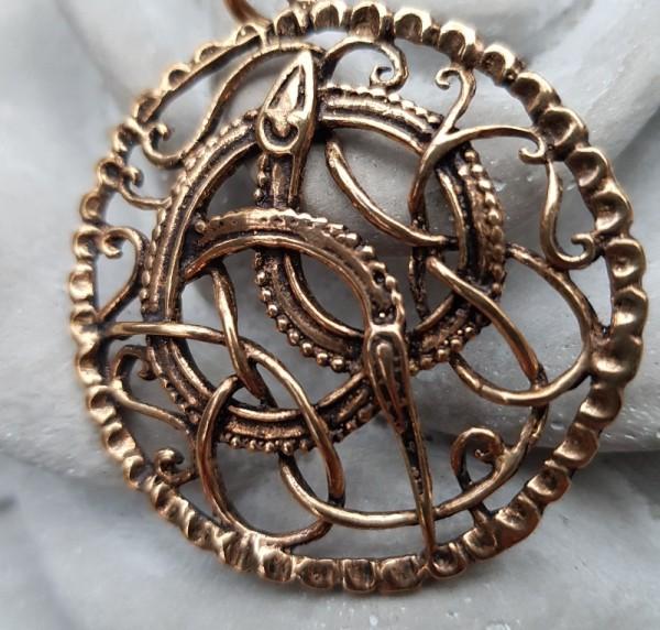 Brosche Wikinger Ragna Bronze