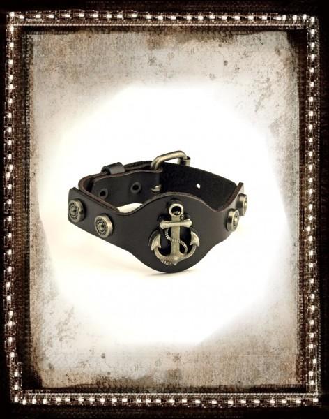 Lederarmband Pirat Anker