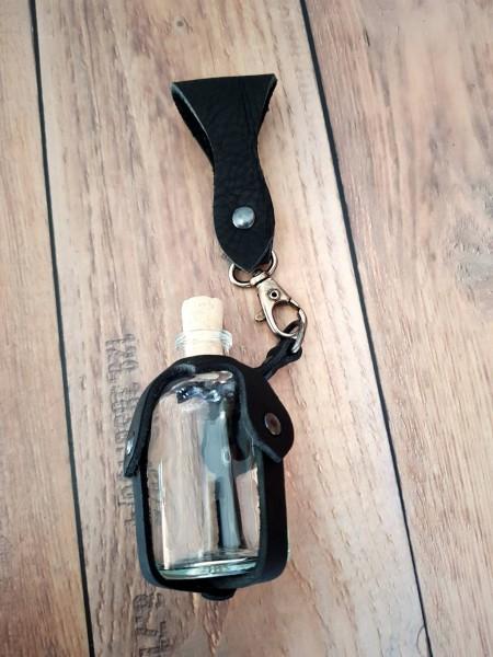Halter mit Mini Glasflasche 50ml