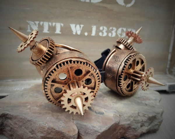 Steampunk Brille bronze