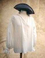 Piratenhemd Soldatenhemd Viskose