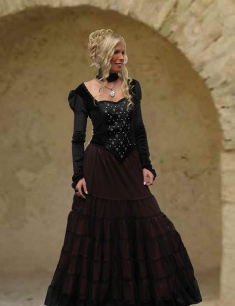 Damenrock mit Tüll Volants