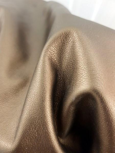 Metall Stoff Lederimitat bronze