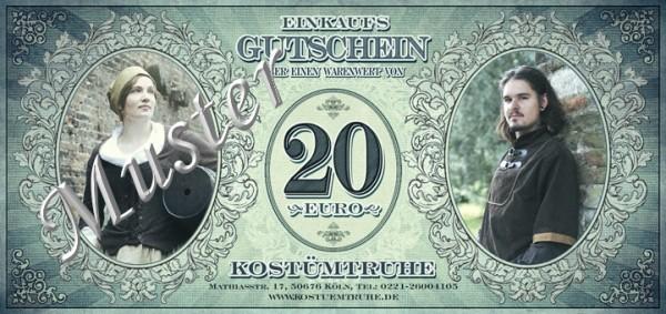 Gutschein 20 EUR für Ladenlokal