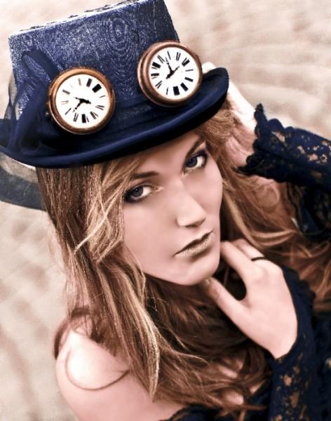 Steampunk Brille Uhr