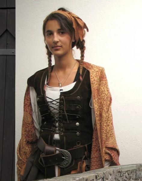 Piratenmieder Lederweste dunkelbraun