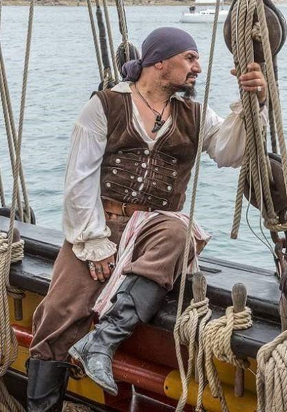 kurze Piraten Lederweste