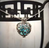 Anhänger blaues Herz