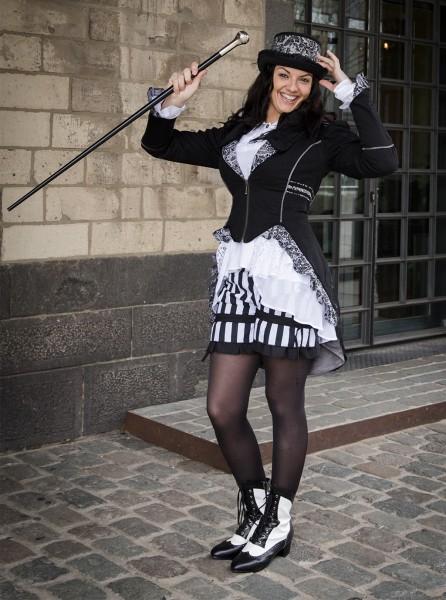 Jacke Juliette schwarz-grau