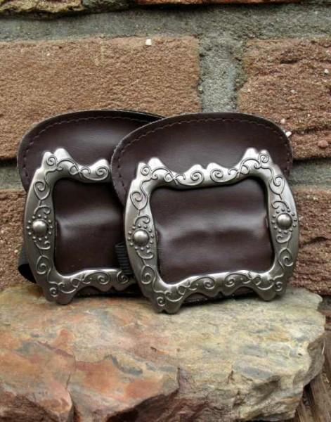 Schuhschnallen antik braun