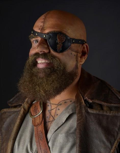 Augenklappe Piraten Leder
