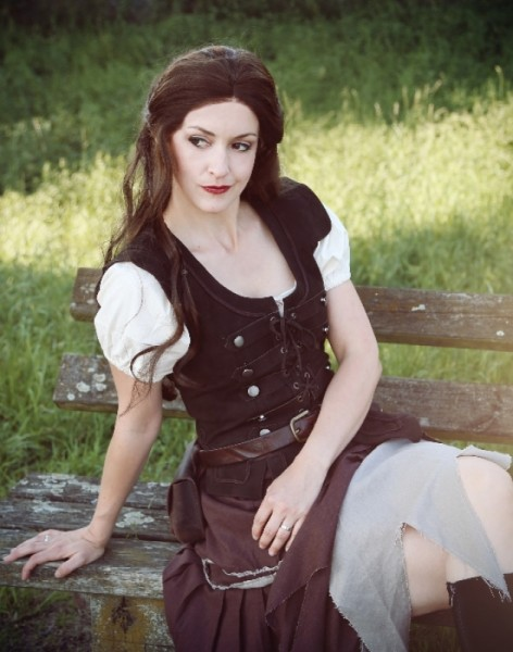 Piratenmieder Lederweste Nubuk