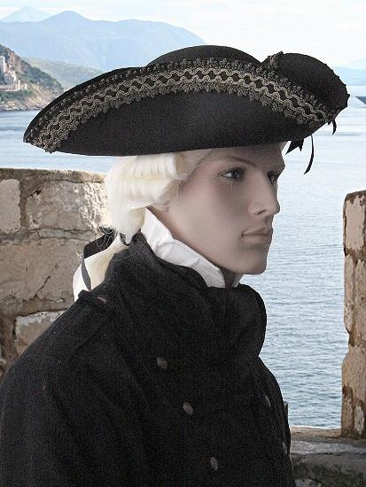 Dreispitz Hut Black Pearl