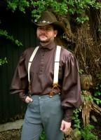 Steampunk Hemd Barber dunkelbraun