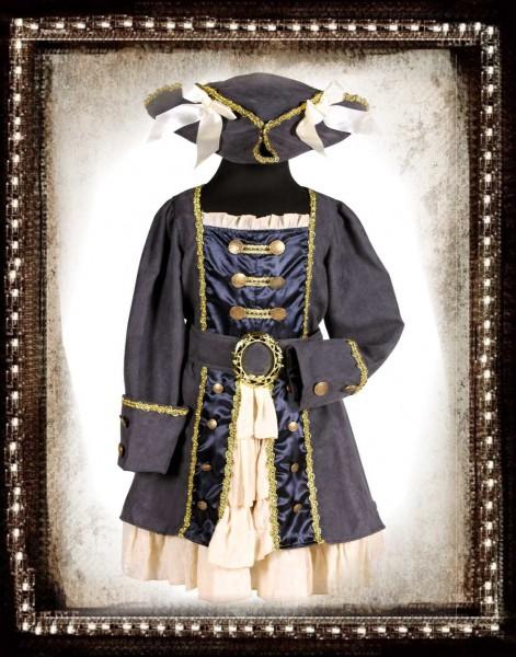 Kinder Piratin Karneval Kostüm 116-122