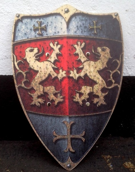 Holz Schild Mittelalter Löwen