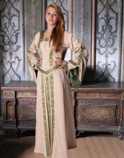 Mittelalterkleid Cecile Jacquard