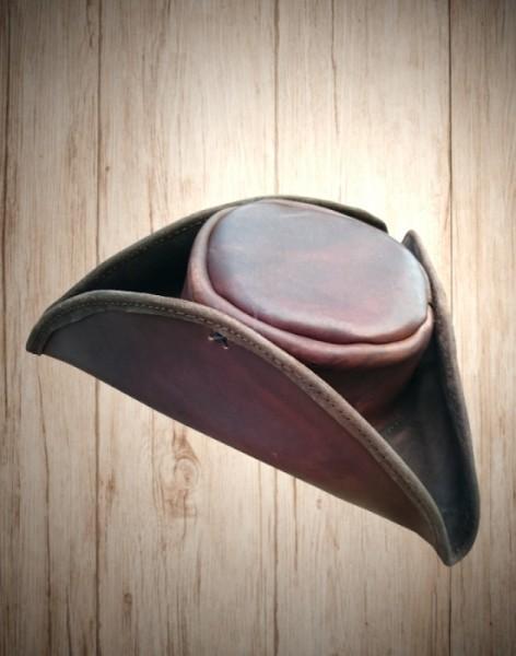 Lederhut Dreispitz handmade