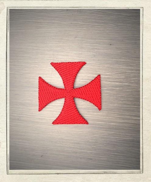 Aufbügler Templerkreuz Rot 5cm
