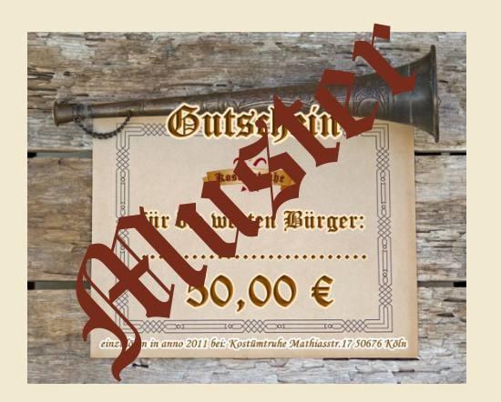 Gutschein 50 EUR für den Onlineshop