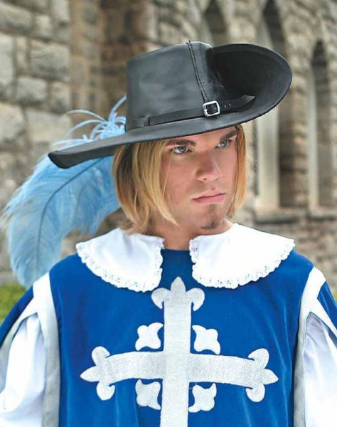 Cavalier Leder Musketierhut