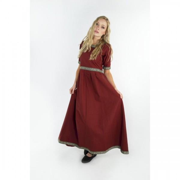 Mittelalterkleid Gundina ziegelrot
