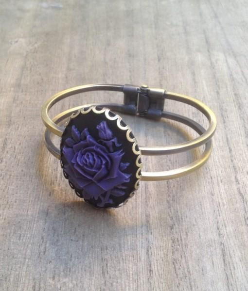 Armreif lila Rose