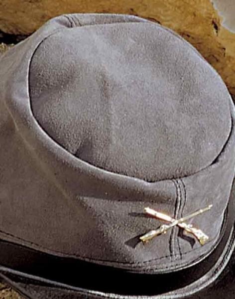 Ledercap Western Civil War